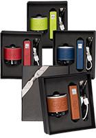 2200 mAhTuscany Aluminum Power Banks and Bluetooth Speakers Gift Set   PLLG9350