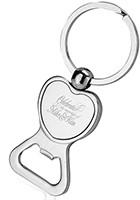 Heart Shaped Bottle Opener Keychains
