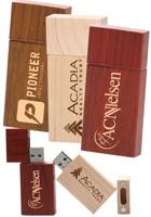 Rectangle Wood USB Flash Drives