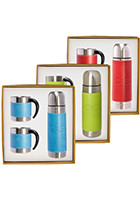 Tuscany™ Stainless Steel Thermos & Coffee Cups Gift Set  PLLG9278