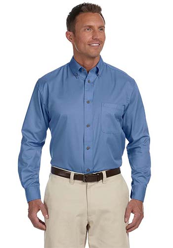 #M500 Harriton Men's Easy Blend™ Custom Long-Sleeve Twill Shirts with Stain-Release