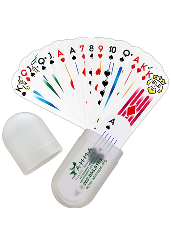 Oval Deck Of Cards In Plastic Holders   MGPC100