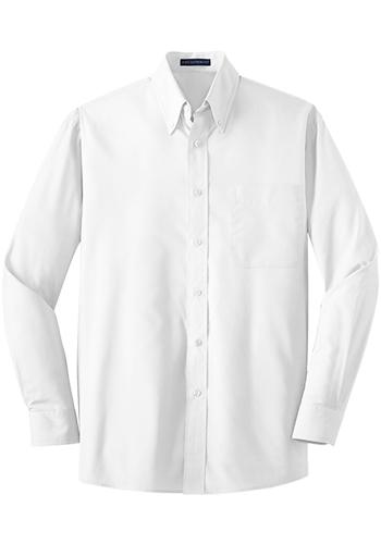 Port Authority Poplin Long Sleeve Button Down Shirts | S632