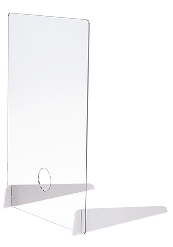 0.25 In Thick Distancing Barrier With Acrylic Legs  X20345