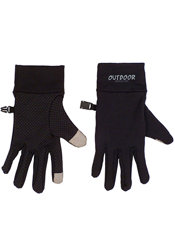 Touchscreen Spandex Gloves Silicone Grip Pattern