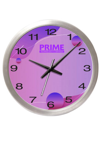 14 Brushed Metal Wall Clocks with Glass Lens | IV9514