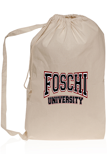 Collegiate Natural Cotton Laundry Bags   TOT213