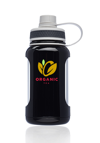 22 oz. Exhibition Glass Water Bottles with Silicone Sleeve   WB336