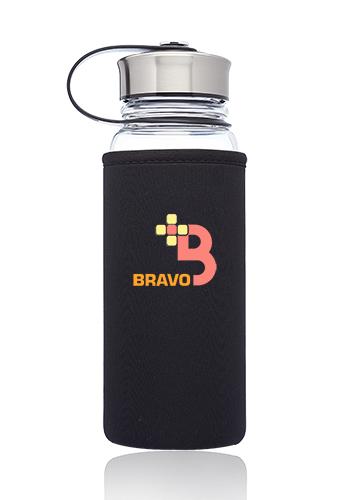 25 oz. Kangaroo Glass Bottles in Neoprene Pouch | WB335