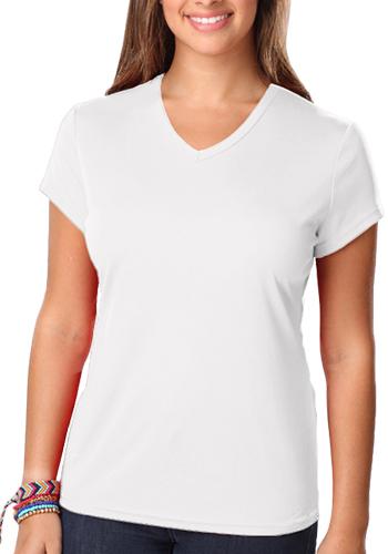 Blue Generation Ladies Moisture Wicking V-Neck T-shirts | BGEN6302