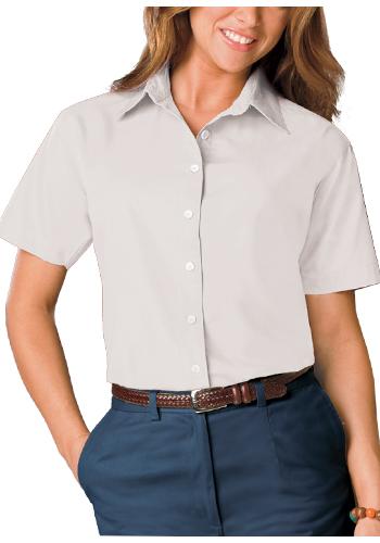 Blue Generation Ladies Short Sleeve Poplin Dress Shirts | BGEN6210S
