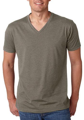 Mens CVC V-Neck T-shirts
