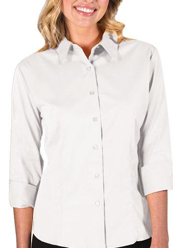 Blue Generation Ladies 3/4 Sleeve Fine Line Twill Dress Shirts | BGEN6330