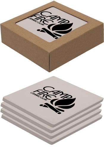 4 Pack Square Absorbent Stone Coasters | IL1645