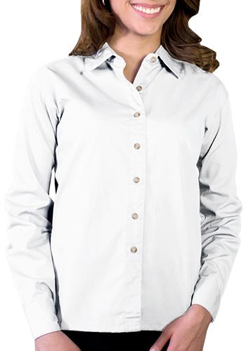 Blue Generation Ladies Long Sleeve Stain Release Poplin Dress Shirts   BGEN6216