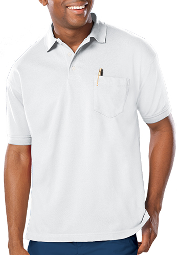 Blue Generation Men's Soft Touch Short Sleeve Pocketed Polo Shirts | BGEN7501