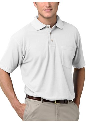 Blue Generation Adult Short Sleeve Superblend Pocket Polo Shirts   BGEN7206
