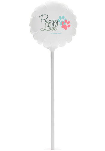 6 Inch Round Balloons with Suction Base |PB6RB2