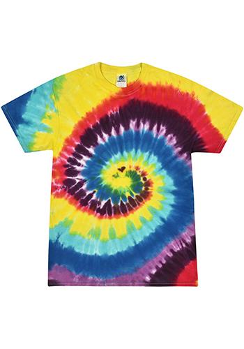 Personalized Adult 5.4 oz Cotton Tie Dye T-Shirts