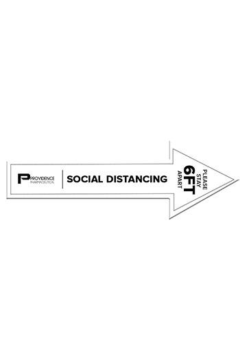 70 In. Arrow Shape Social Distancing Decal | SHD259064
