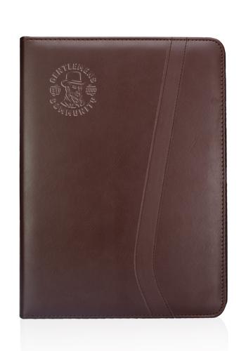 Brown Leatherette Portfolios   PF11
