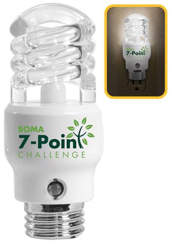 CFL Light Bulb Shaped Nightlights   IL8479