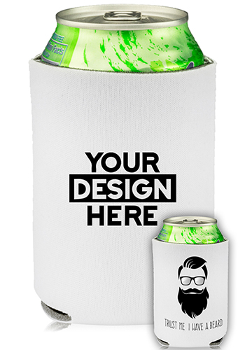 Collapsible Can Cooler Trust Me I Have A Beard Print   KZ450
