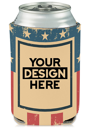 Collapsible Can Coolers 4th of July Print  KZ481