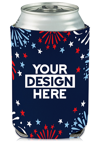 Collapsible Can Coolers Independence Day Print  KZ480