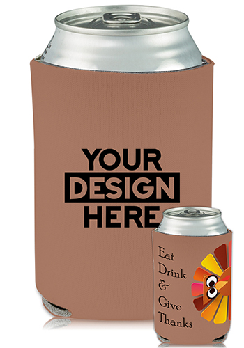 Collapsible Can Coolers Thanksgiving Turkey Print| KZ489