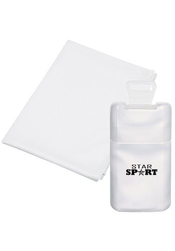 Cooling Towels In Frosted Plastic Case| X20328