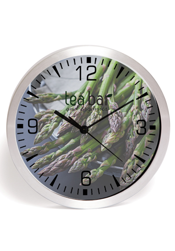 10 inch Brushed Metal Wall Clocks with Glass Lens   IV9511