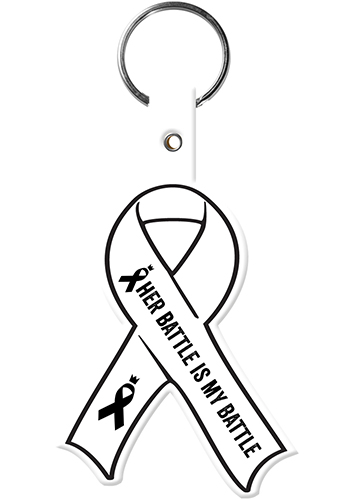 Awareness Ribbon Flexible Key Tags | EM570