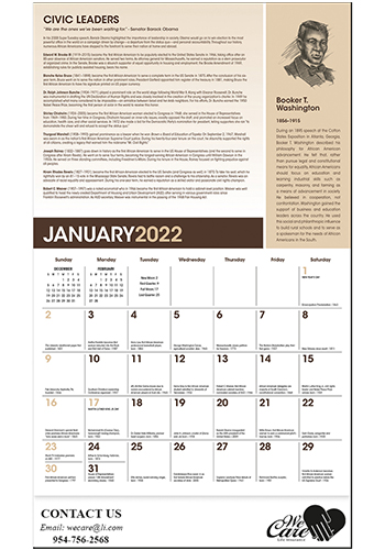 Family African-American Heritage Calendars   X11640