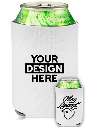 Collapsible Beer Can Cooler Obey The Beard Print   KZ448
