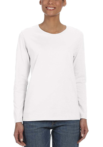 Gildan Heavy Cotton Ladies Long Sleeve Tees   G5400L