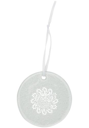 Hammered Circle Glass Ornaments   IL1789CIRCLE