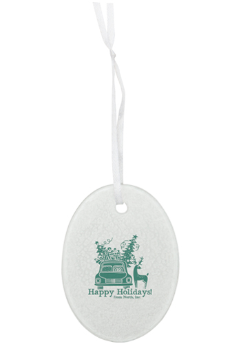 Hammered Oval Glass Ornaments | IL1789OVAL