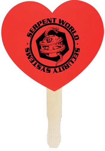 Heart Shaped Hand Fans | AK33015