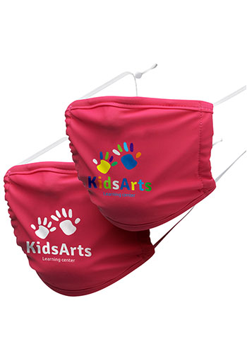 Kids 3-Layer Reusable Custom Face Mask printed with Logo | MA12K