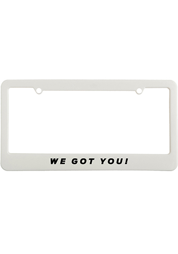 License Plate Frames with Straight Tops | EM1200B