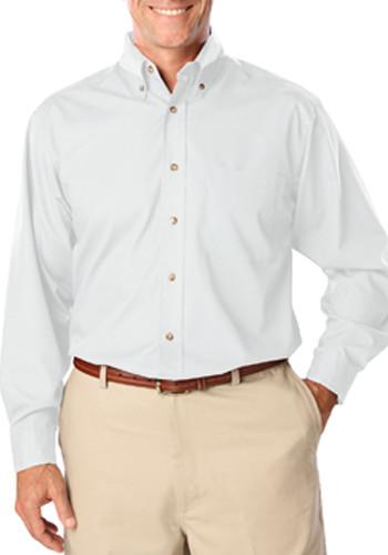 Blue Generation Mens Long Sleeve Stain Release Poplin Dress Shirts   BGEN7216