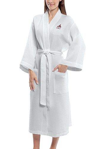Promotional Mid Calf Length Waffle Weave Kimono Robes