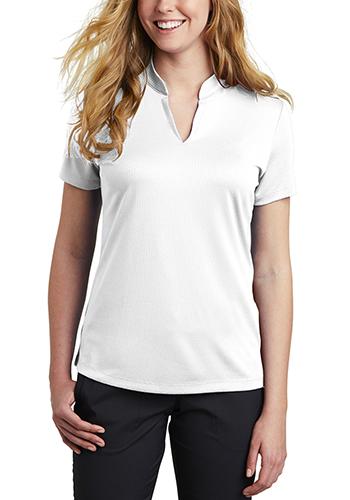Nike Ladies Dri FIT Hex Textured V Neck Top Shirts   SANKAA1848