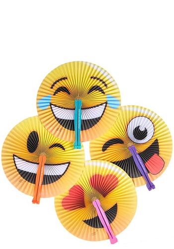 Emoji Plastic Folding Fans   EDEMJ118