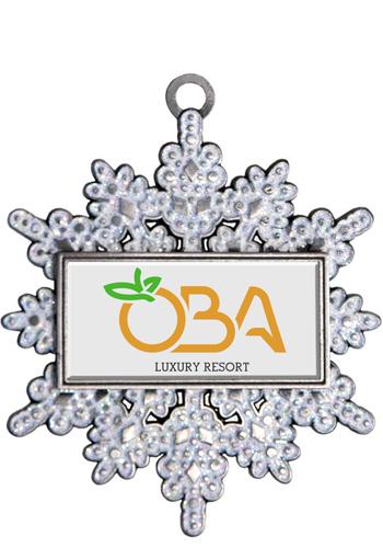 Silver Sflake Holiday Ornaments | SISLXM44