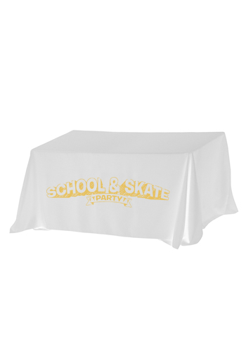 8 ft. 3-Sided Economy Tablecloths | IVTC83