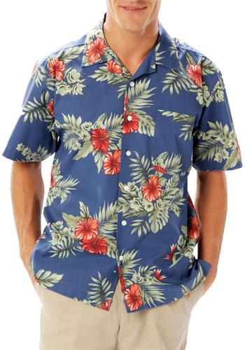 #BGEN3105 Promotional Adult Floral Print Camp Shirts