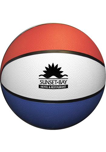 Red White Blue Rubber Basketballs | GBFSRBRWB