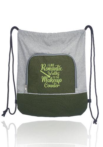 Seville Two Tone Polyester Drawstring Backpacks | BPK87